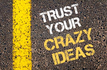 trust your crazy ideas motivational quote