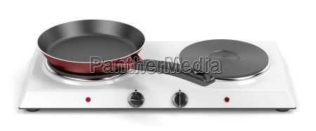 double hot plate and frying pan