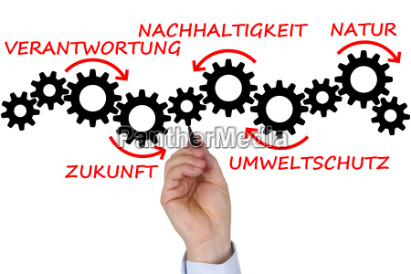 businessman in business concept for sustainability
