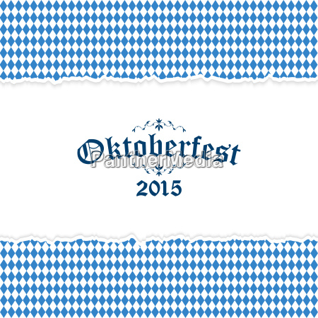 oktoberfest background with blue white checkered