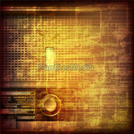 abstract grunge music background with retro