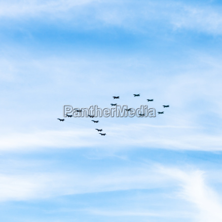 military fighters and attack planes in