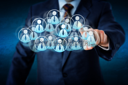 manager selecting human resources in the