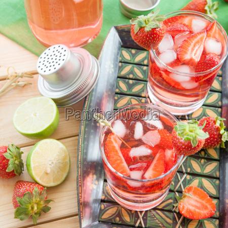 homemade strawberry punch