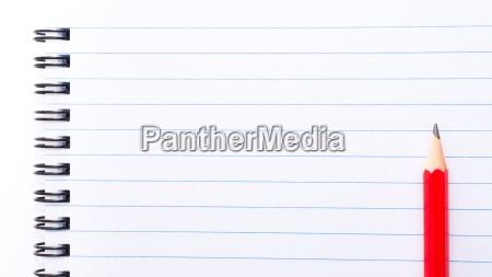 white blank notebook page with