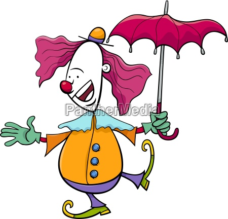 circus clown cartoon illustration