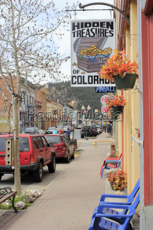 downtown miner street on a spring