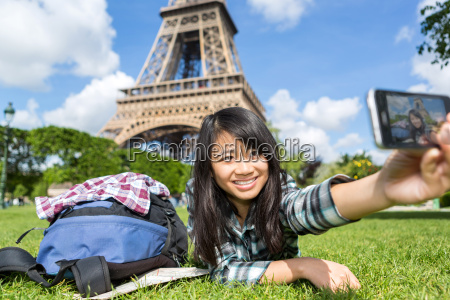 young, attractive, asian, tourist, in, paris - 14178993