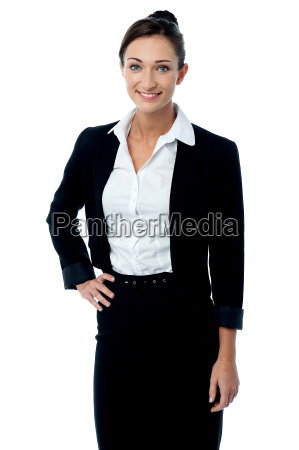 confident smiling business woman
