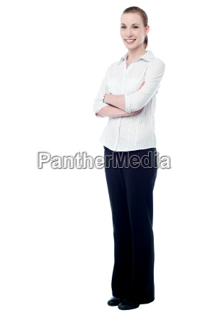 confident business woman posing