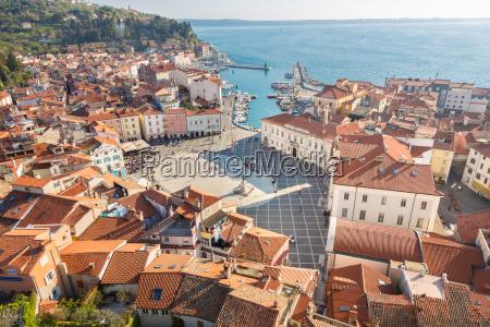 picturesque old town piran slovenia