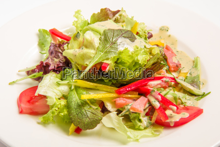 salad with greens vegetables