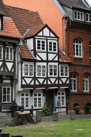 small half timbered house in braunschweig