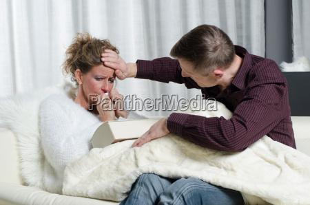couple is talking she is