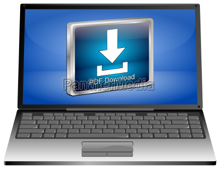 laptop computer with pdf download button