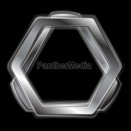 abstract metal shape logo design