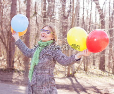 carefree lifestyle happy young woman