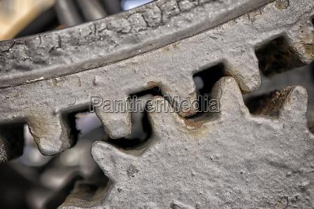 closeup metal gears