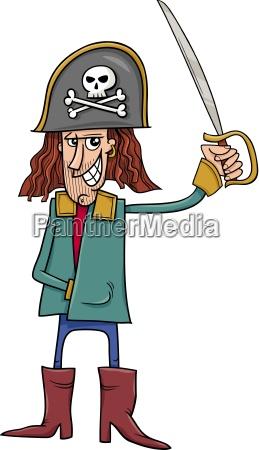 funny pirate cartoon illustration