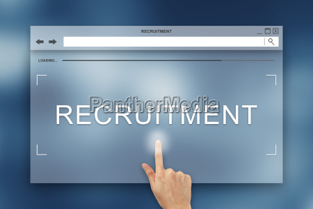 hand press on recruitment button on