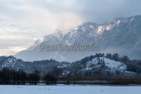 the dobratsch in winter