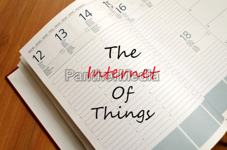 the internet of things concept notepad