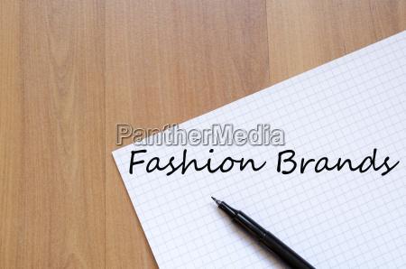 fashion brands concept