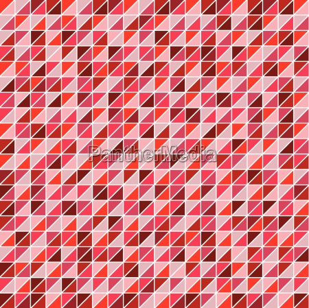 mosaic of triangles shades of red