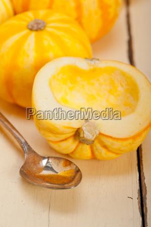 fresh yellow pumpkin
