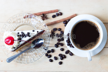 coffee and cake sweets dessert on