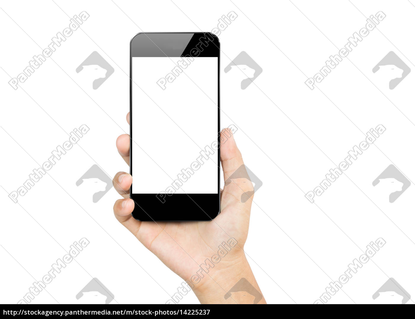 closeup, hand, hold, smartphone, mobile, isolated - 14225237
