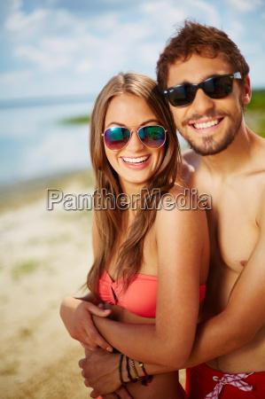 young sunbathers