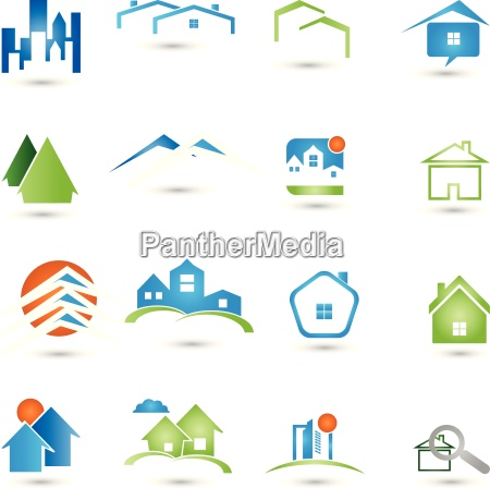 logos collection real estate houses