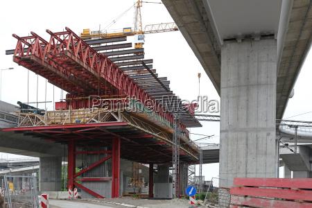 bridge construction scaffolding