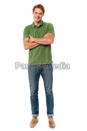 happy man posing in casuals
