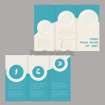 cool ring design tri fold brochure