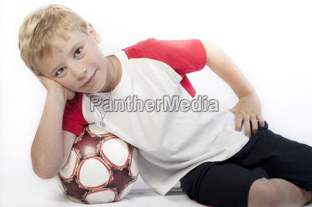 6 year old boy lying on