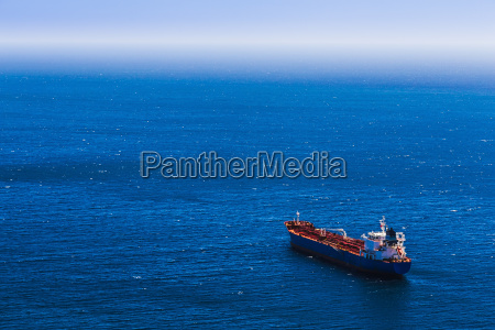aerial view to empty container cargo