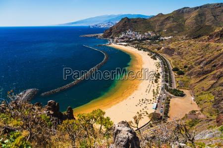 beach las teresitas in santa cruz