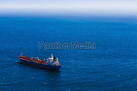 view from above to cargo ship