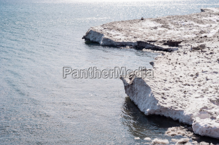 dirty ice edge and melting floes