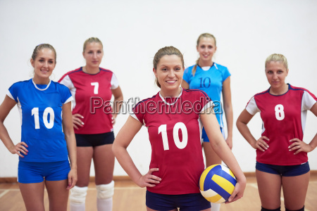 volleyball woman group