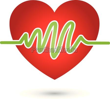heartbeat logo heart medicine