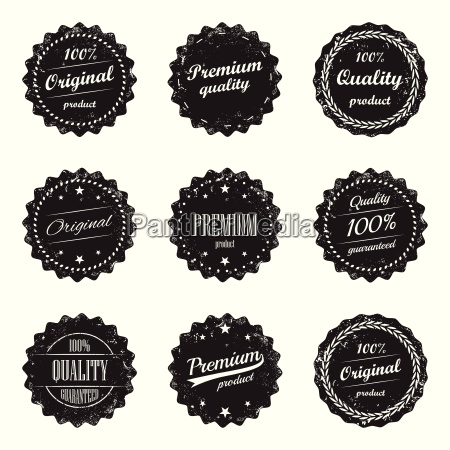 collection of vintage product labels and