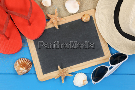 beach accessories in summer and holidays