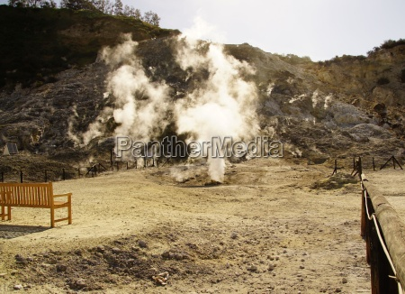 volcanism and sulphur springs in the