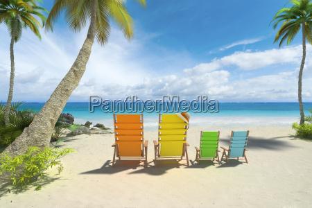 famiglia di spiaggia