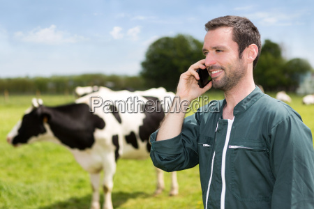 portrait of a young attractive farmer