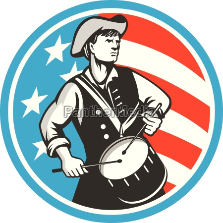 american patriot drummer usa flag circle