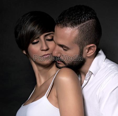 gentle couple portrait